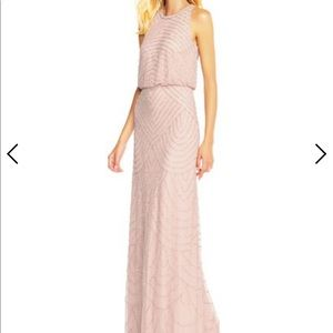 Adrianna Papell - Art Deco Blush Dress - Size 0